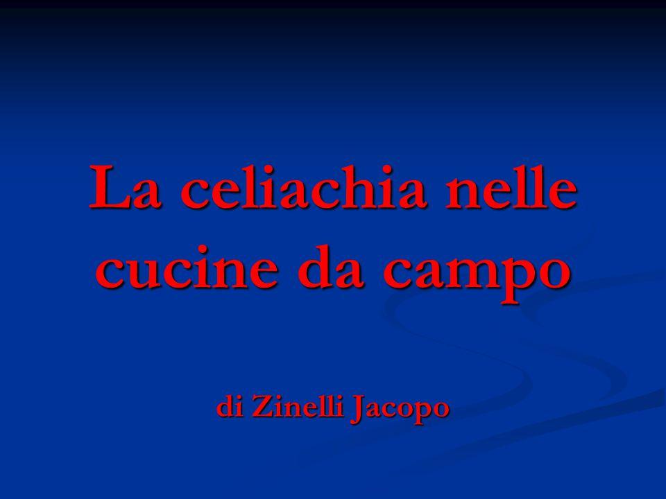 La celiachia nelle cucine da campo di Zinelli Jacopo