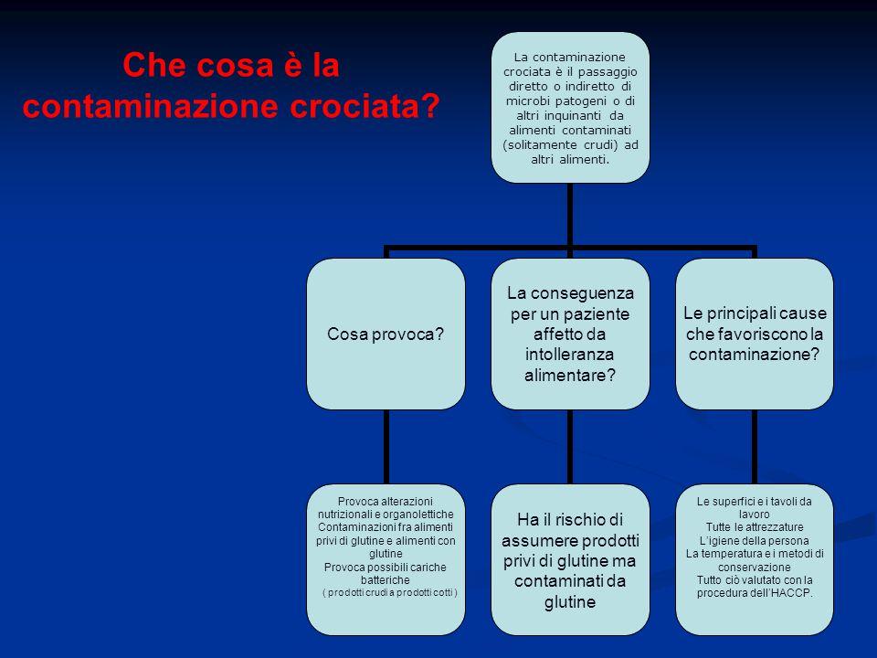 Che cosa è la contaminazione crociata? La contaminazione crociata è il passaggio diretto o indiretto di microbi patogeni o di altri inquinanti da alim
