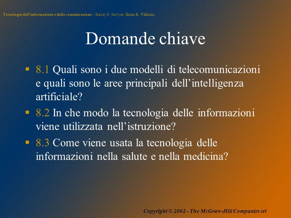 Tecnologie dell'informazione e della comunicazione - Stacey S. Sawyer, Brian K. Williams Copyright © 2002 - The McGraw-Hill Companies srl Domande chia