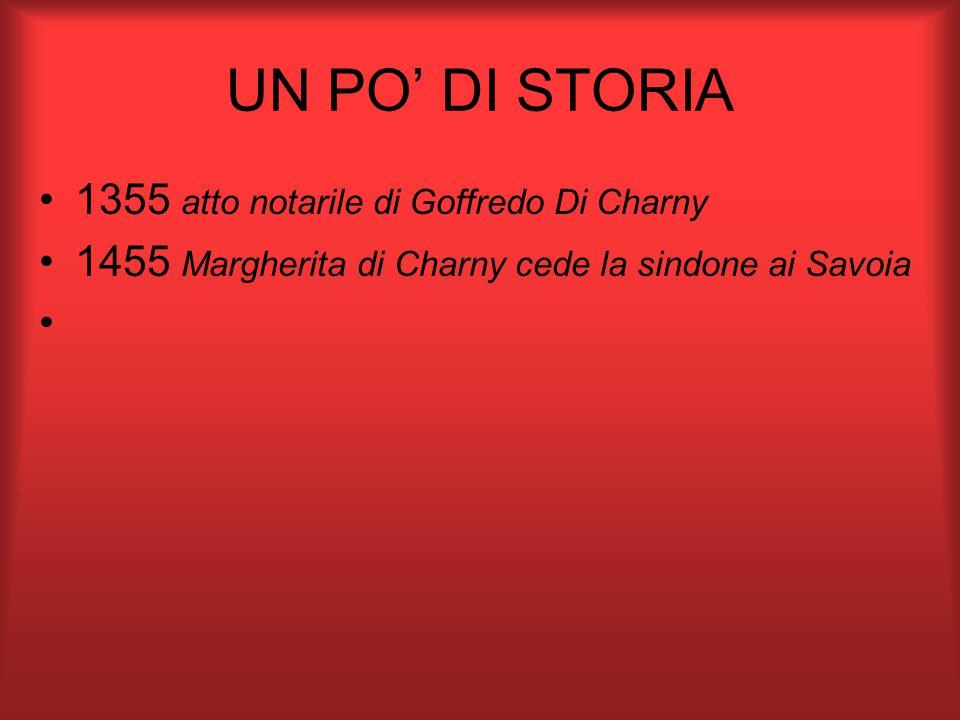 1355 atto notarile di Goffredo Di Charny 1455 Margherita di Charny cede la sindone ai Savoia