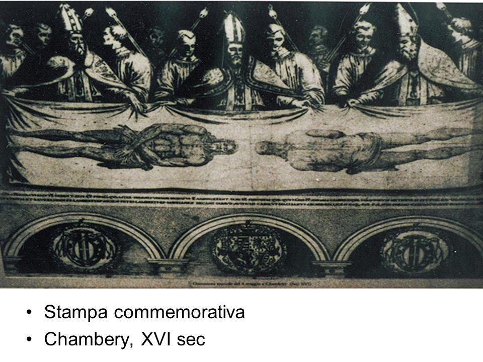Stampa commemorativa Chambery, XVI sec