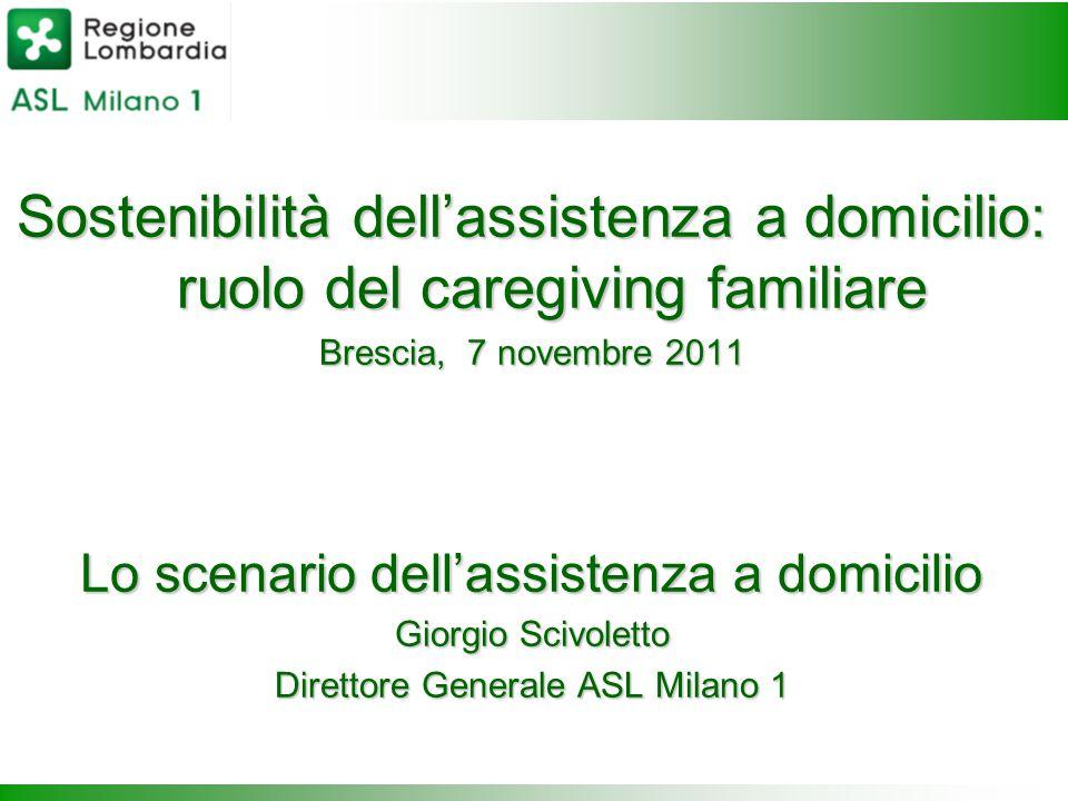 Sostenibilità dell'assistenza a domicilio: ruolo del caregiving familiare Brescia, 7 novembre 2011 Lo scenario dell'assistenza a domicilio Giorgio Sci