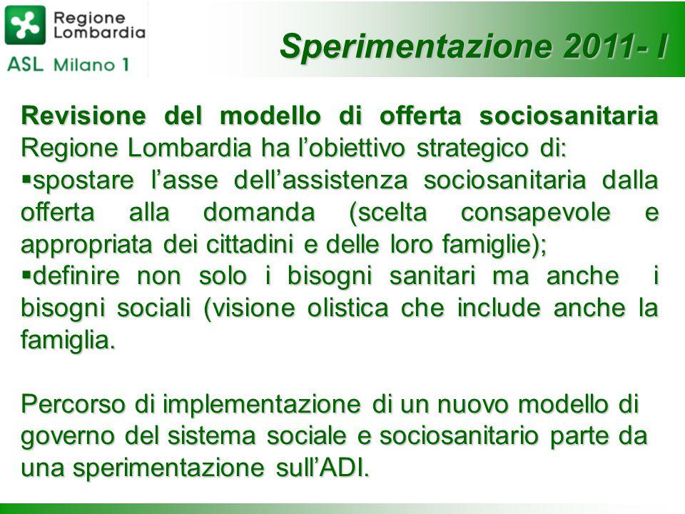 Revisione del modello di offerta sociosanitaria Regione Lombardia ha l'obiettivo strategico di:  spostare l'asse dell'assistenza sociosanitaria dalla