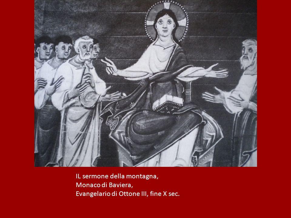 IL sermone della montagna, Monaco di Baviera, Evangelario di Ottone III, fine X sec.