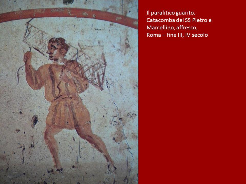 Il paralitico guarito, Catacomba dei SS Pietro e Marcellino, affresco, Roma – fine III, IV secolo