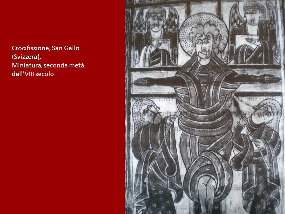 Crocifissione, San Gallo (Svizzera), Miniatura, seconda metà dell'VIII secolo
