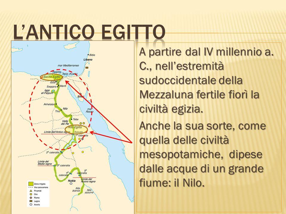 La civiltà dell'antico Egitto è definita un dono del Nilo perché il fiume, allora come oggi: 1.