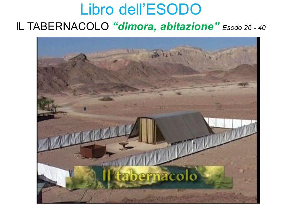 Libro dell'ESODO IL TABERNACOLO dimora, abitazione Esodo 26 - 40