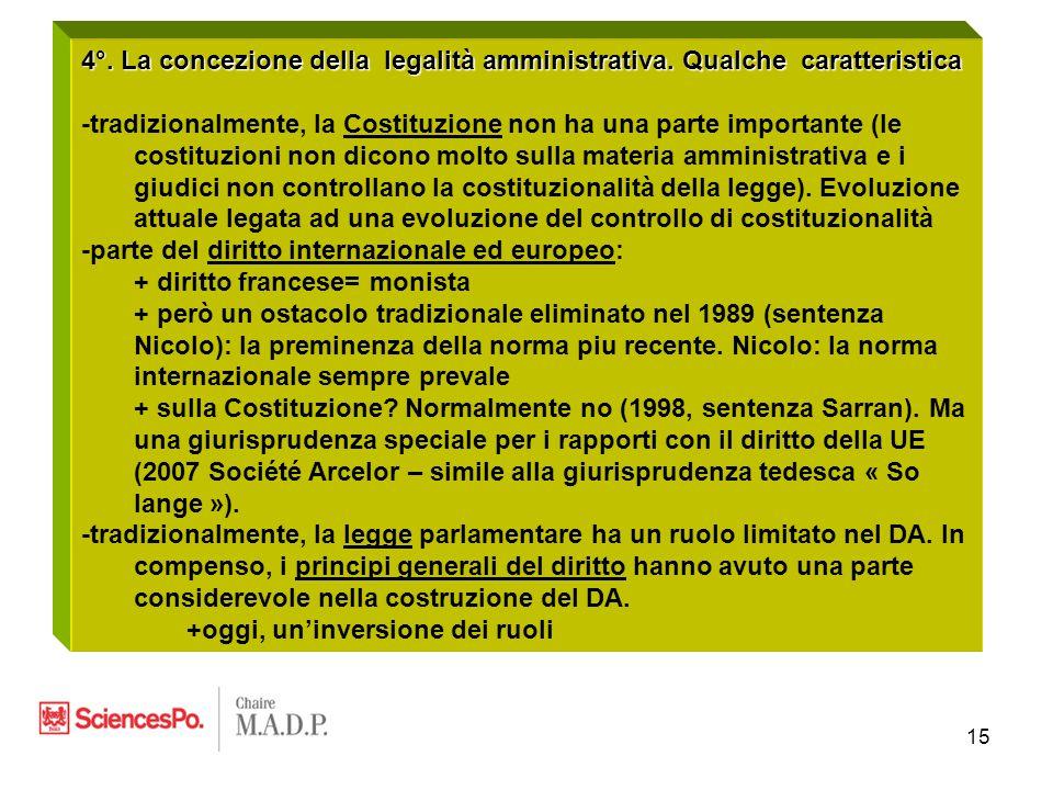 15 4°. La concezione della legalità amministrativa.