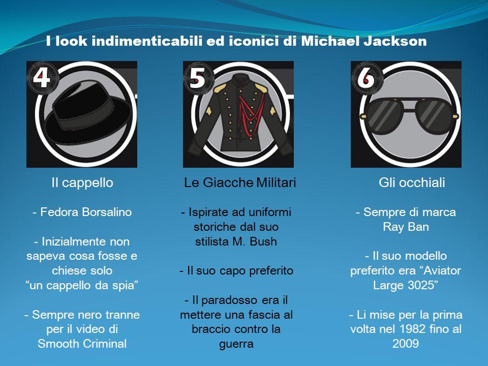 """I look indimenticabili ed iconici di Michael Jackson Il cappello - Fedora Borsalino - Inizialmente non sapeva cosa fosse e chiese solo """"un cappello da"""