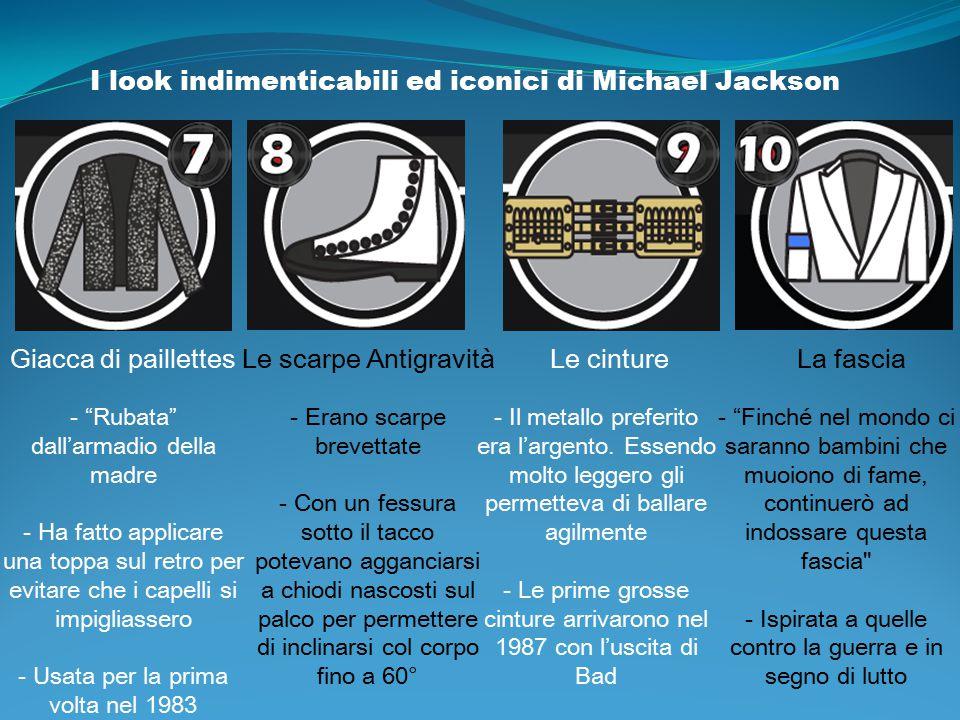 """I look indimenticabili ed iconici di Michael Jackson Giacca di paillettes - """"Rubata"""" dall'armadio della madre - Ha fatto applicare una toppa sul retro"""