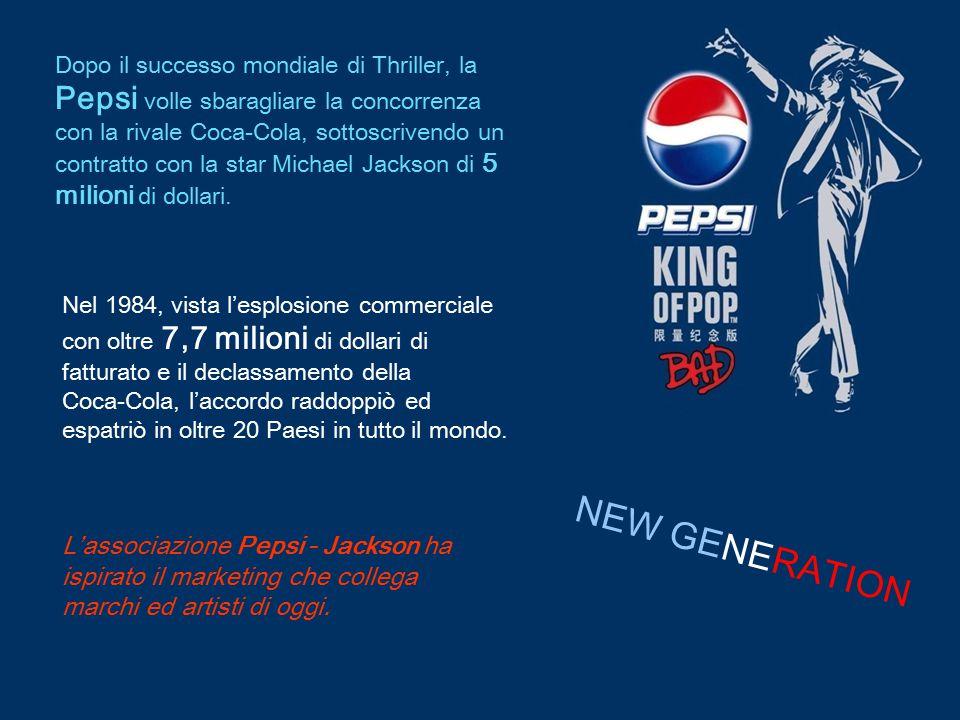 Dopo il successo mondiale di Thriller, la Pepsi volle sbaragliare la concorrenza con la rivale Coca-Cola, sottoscrivendo un contratto con la star Mich