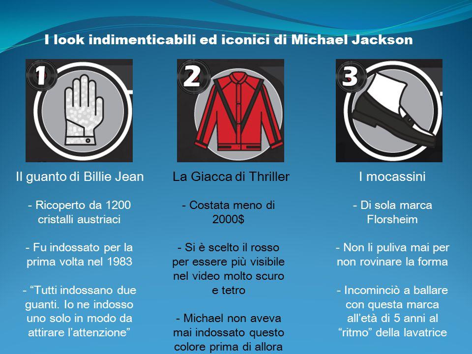I look indimenticabili ed iconici di Michael Jackson Il guanto di Billie Jean - Ricoperto da 1200 cristalli austriaci - Fu indossato per la prima volt