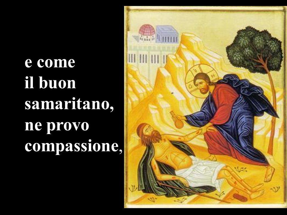 e come il buon samaritano, ne provo compassione,