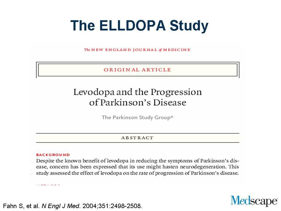 Il trattamento precoce con dopamino agonisti riduce il rischio di complicazioni motorie StudioDurata Dose media Levodopa Complicazione motoria Frequenza L-Dopa vs ropinirolo Rascol, 2000 L-Dopa vs cabergolina Bracco, 2004 L-Dopa vs pramipexolo PSG, 2004 5 anni 4 anni CAB: 431 mg L-DOPA: 784 mg Discinesie L-DOPA: 45% ROP: 20% L-DOPA: 34% CAB: 14% L-DOPA: 54% PPX: 25% ROP: 427 mg L-DOPA: 753 mg PPX: 434 mg L-DOPA: 702 mg