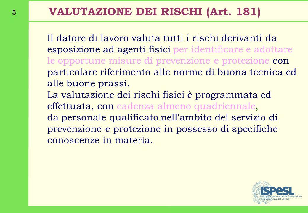3 VALUTAZIONE DEI RISCHI (Art.
