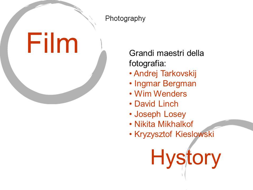 Grandi maestri della fotografia: Andrej Tarkovskij Ingmar Bergman Wim Wenders David Linch Joseph Losey Nikita Mikhalkof Kryzysztof Kieslowski Film Hys