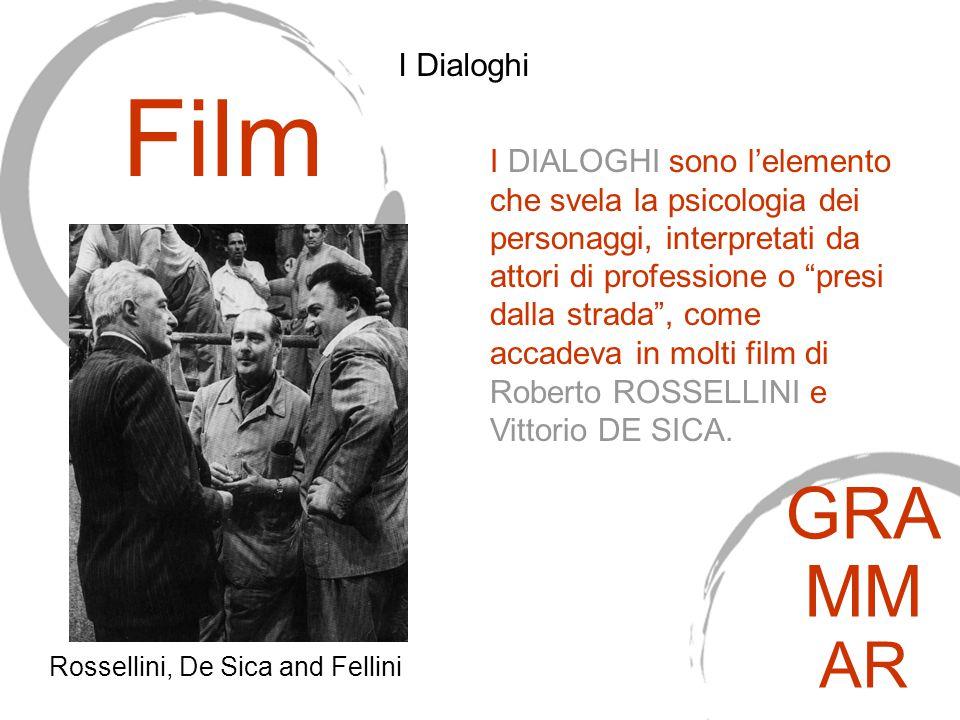 I DIALOGHI sono l'elemento che svela la psicologia dei personaggi, interpretati da attori di professione o presi dalla strada , come accadeva in molti film di Roberto ROSSELLINI e Vittorio DE SICA.