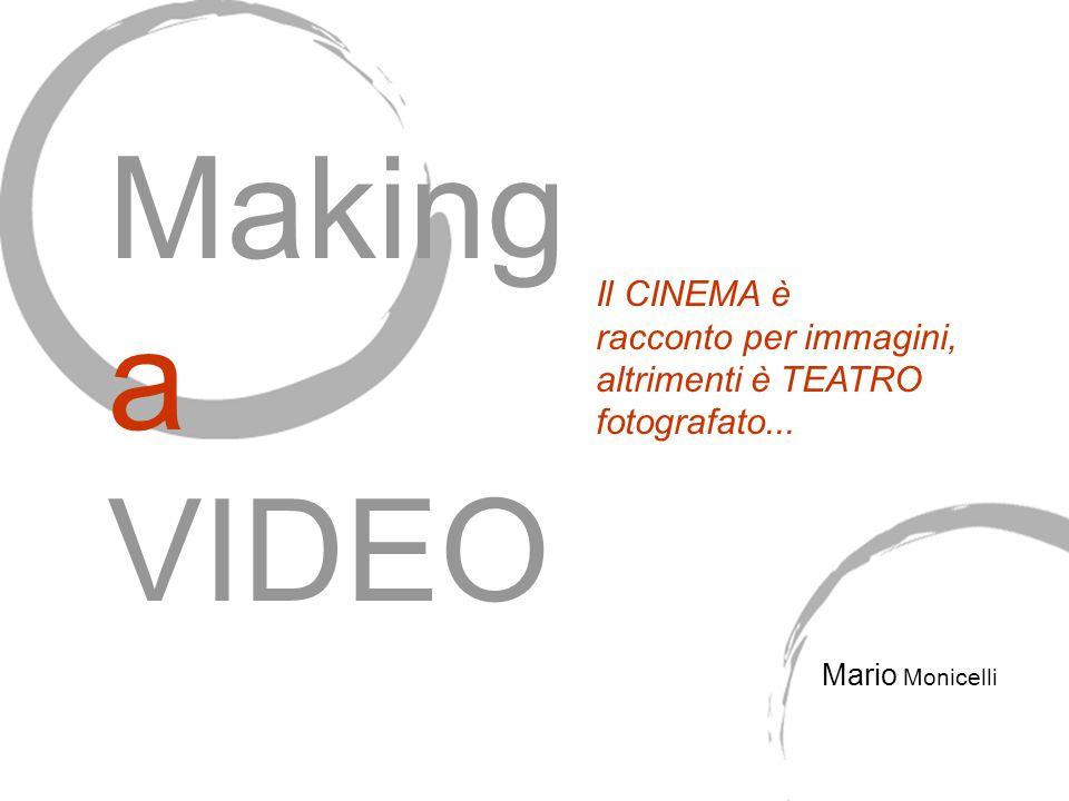 Il CINEMA è racconto per immagini, altrimenti è TEATRO fotografato... Mario Monicelli Making a VIDEO