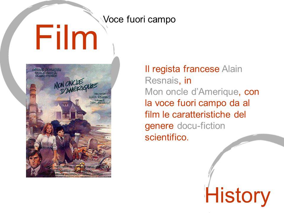 Il regista francese Alain Resnais, in Mon oncle d'Amerique, con la voce fuori campo da al film le caratteristiche del genere docu-fiction scientifico.