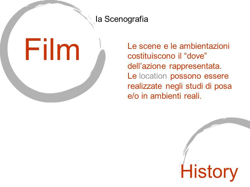 """Le scene e le ambientazioni costituiscono il """"dove"""" dell'azione rappresentata. Le location possono essere realizzate negli studi di posa e/o in ambien"""