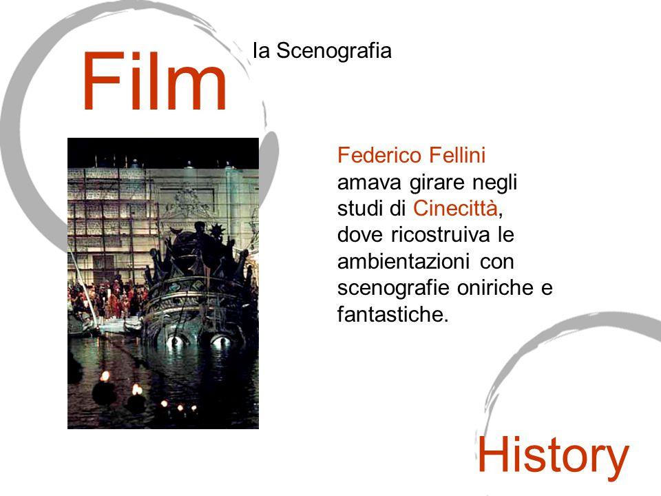 Federico Fellini amava girare negli studi di Cinecittà, dove ricostruiva le ambientazioni con scenografie oniriche e fantastiche. Film Ia Scenografia