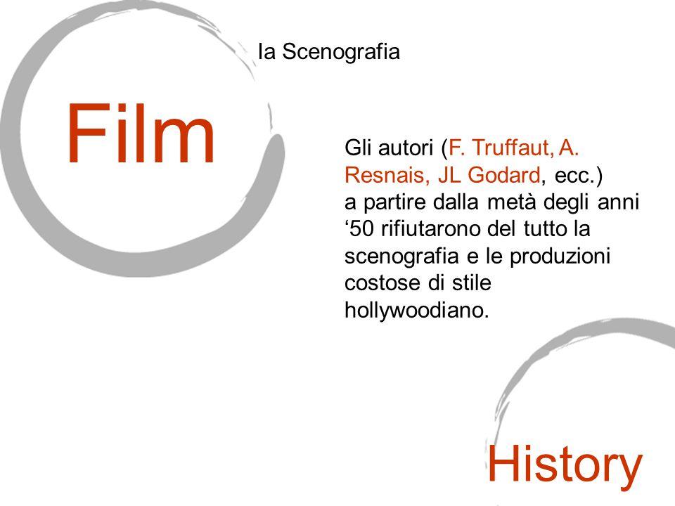 Gli autori (F. Truffaut, A. Resnais, JL Godard, ecc.) a partire dalla metà degli anni '50 rifiutarono del tutto la scenografia e le produzioni costose