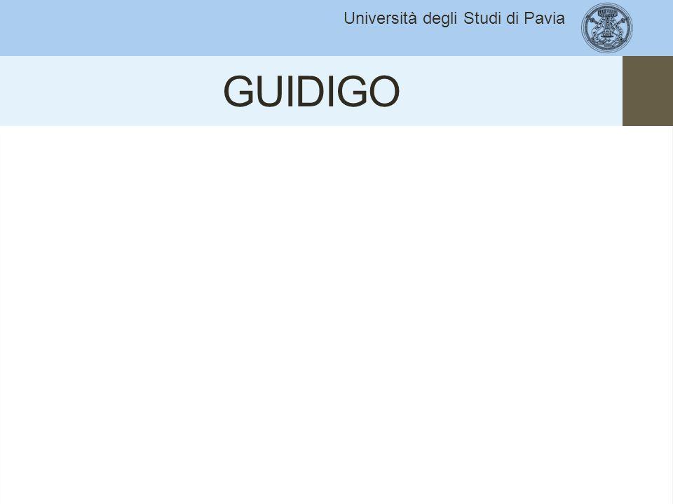 Università degli Studi di Pavia GUIDIGO