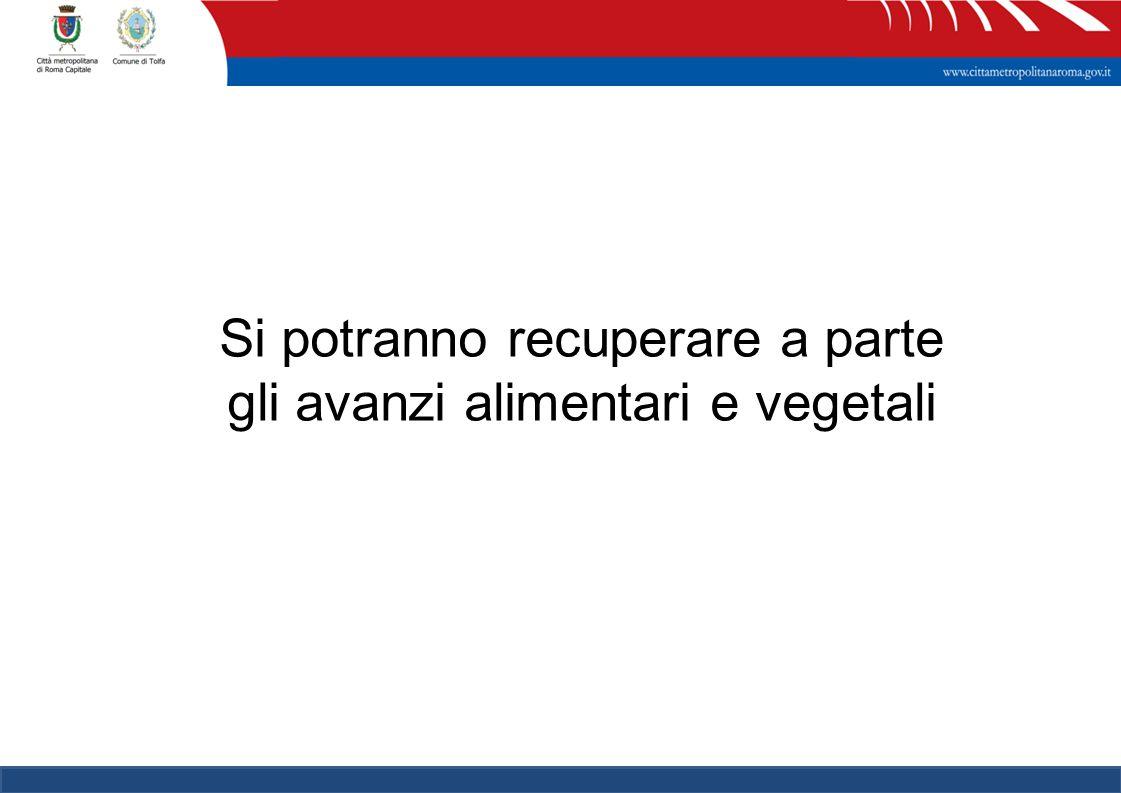 12 Si potranno recuperare a parte gli avanzi alimentari e vegetali