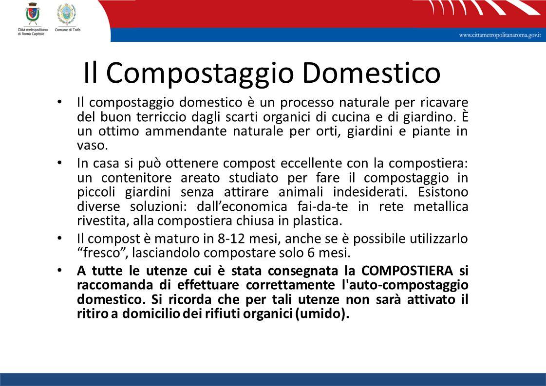 13 Il compostaggio domestico è un processo naturale per ricavare del buon terriccio dagli scarti organici di cucina e di giardino.