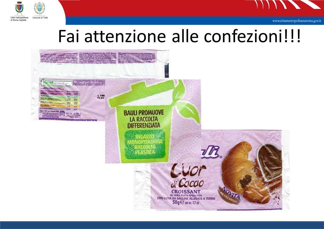 Fai attenzione alle confezioni!!!