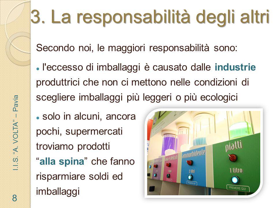 Ma le aziende alimentari stanno cercando di migliorare la situazione? 9 I.I.S. A. VOLTA – Pavia