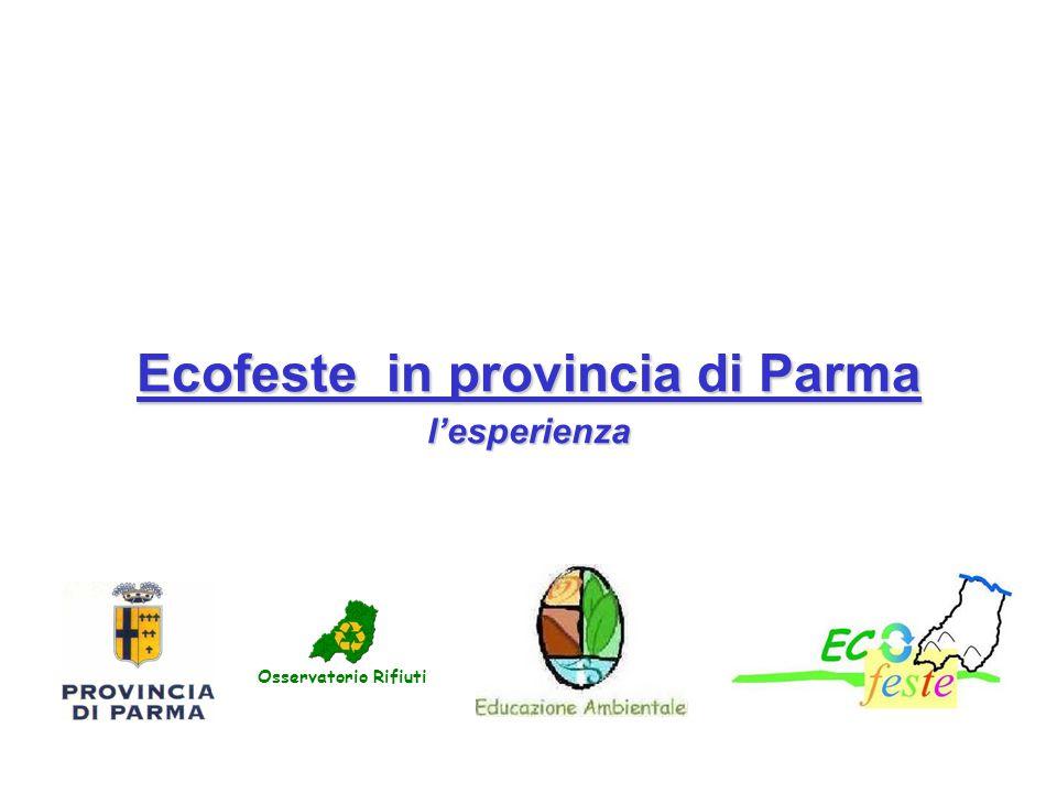Ecofeste in provincia di Parma l'esperienza Osservatorio Rifiuti