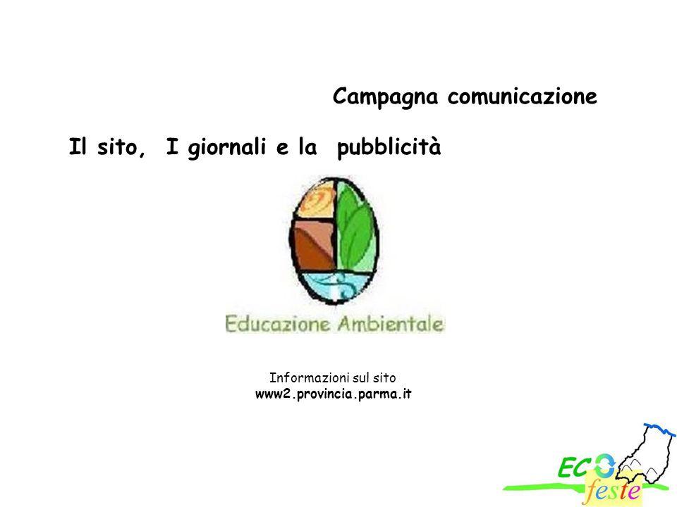 Informazioni sul sito www2.provincia.parma.it Campagna comunicazione Il sito, I giornali e la pubblicità