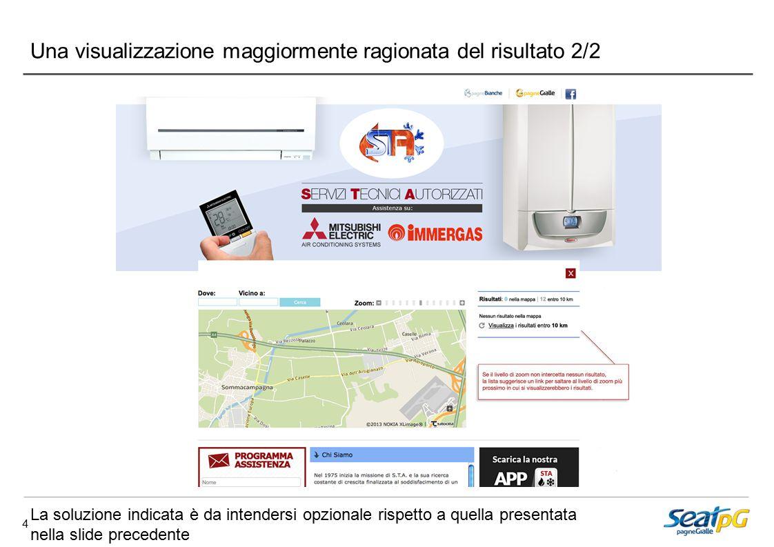 4 Una visualizzazione maggiormente ragionata del risultato 2/2 La soluzione indicata è da intendersi opzionale rispetto a quella presentata nella slide precedente