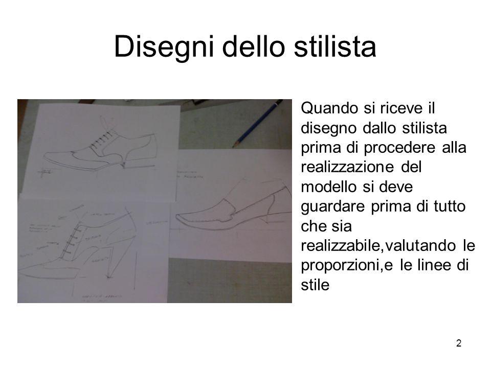 2 Disegni dello stilista Quando si riceve il disegno dallo stilista prima di procedere alla realizzazione del modello si deve guardare prima di tutto