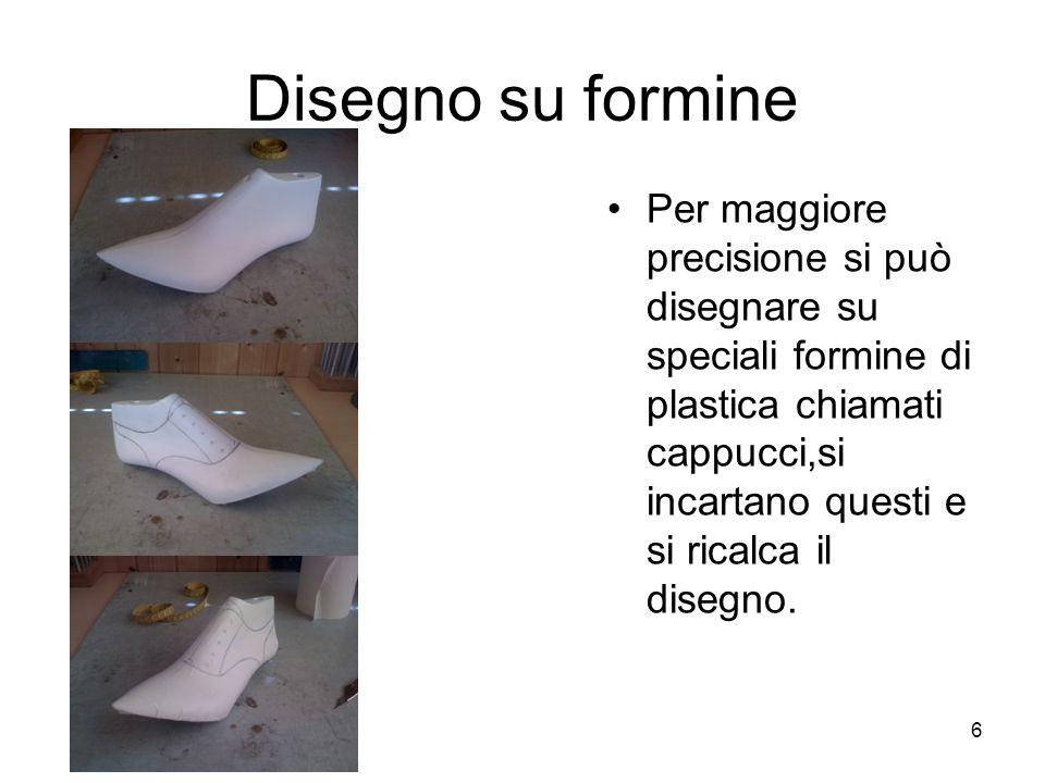 6 Disegno su formine Per maggiore precisione si può disegnare su speciali formine di plastica chiamati cappucci,si incartano questi e si ricalca il disegno.
