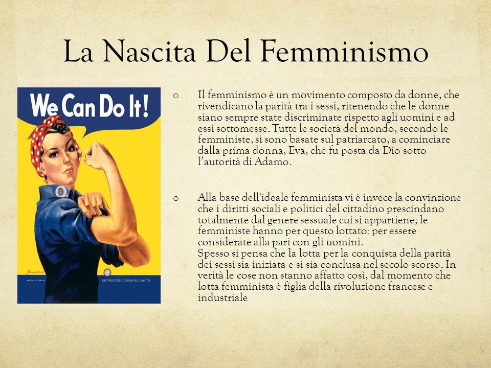 La Nascita Del Femminismo o Il femminismo è un movimento composto da donne, che rivendicano la parità tra i sessi, ritenendo che le donne siano sempre