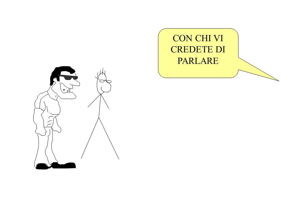 CON CHI VI CREDETE DI PARLARE