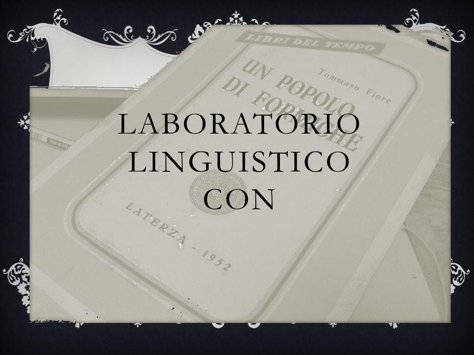 LABORATORIO LINGUISTICO CON