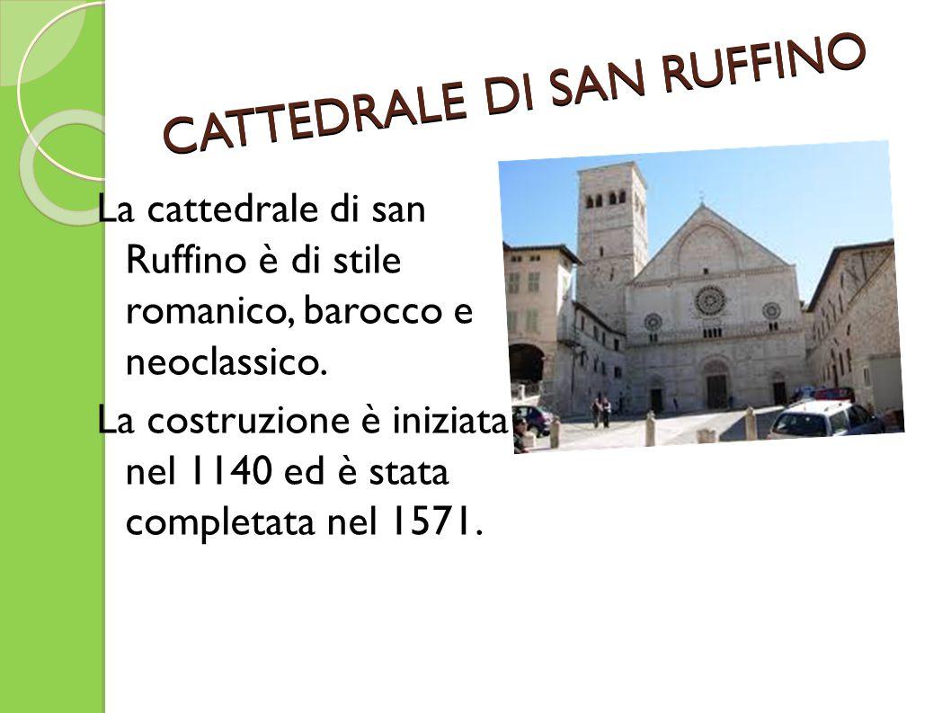 La cattedrale di san Ruffino è di stile romanico, barocco e neoclassico. La costruzione è iniziata nel 1140 ed è stata completata nel 1571. CATTEDRALE