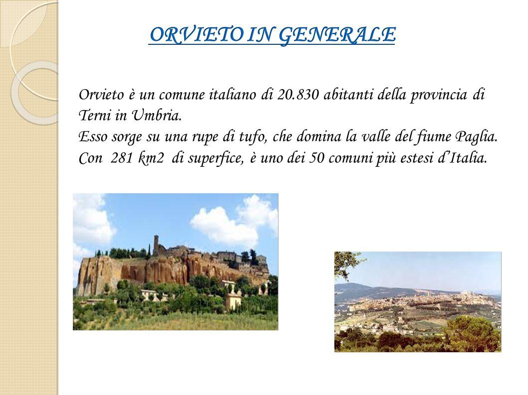 Orvieto è un comune italiano di 20.830 abitanti della provincia di Terni in Umbria. Esso sorge su una rupe di tufo, che domina la valle del fiume Pagl