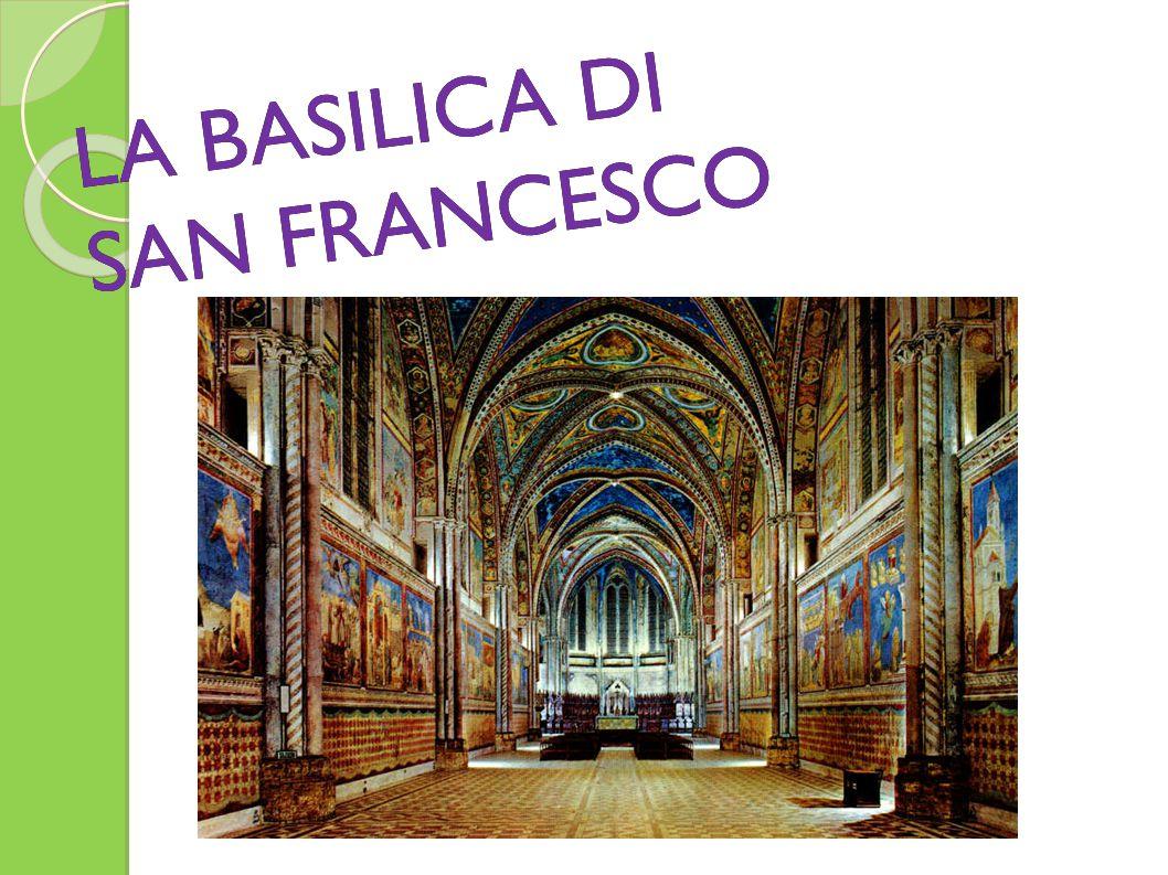 L'OPERATO NELLA BASILICA I primi affreschi nella chiesa superiore vennero realizzati nel transetto da pittori oltremontani e poi dalla bottega di Cimabue, dove probabilmente doveva trovarsi anche il giovane Giotto.