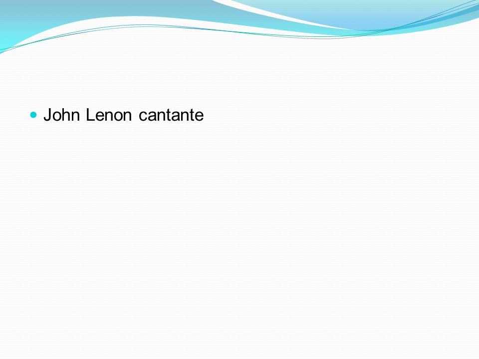John Lenon cantante