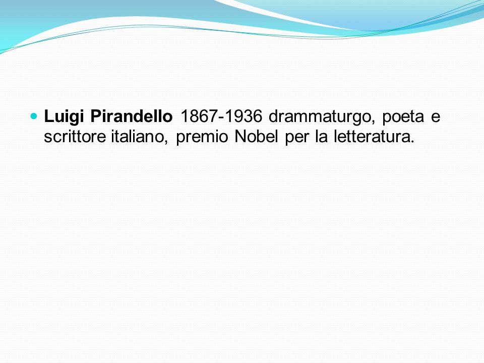 Luigi Pirandello 1867-1936 drammaturgo, poeta e scrittore italiano, premio Nobel per la letteratura.