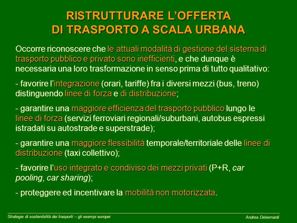 Andrea Debernardi PROTEGGERE ED INCENTIVARE LA MOBILITA' NON MOTORIZZATA Strategie di sostenibilità dei trasporti – gli esempi europei