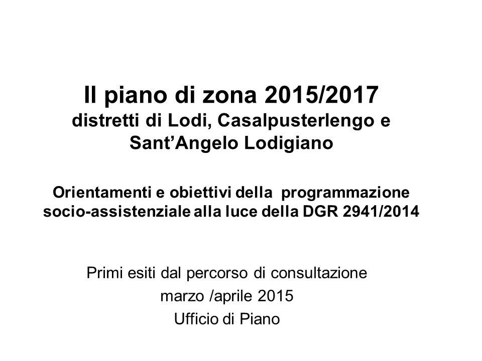 Il piano di zona 2015/2017 distretti di Lodi, Casalpusterlengo e Sant'Angelo Lodigiano Orientamenti e obiettivi della programmazione socio-assistenzia