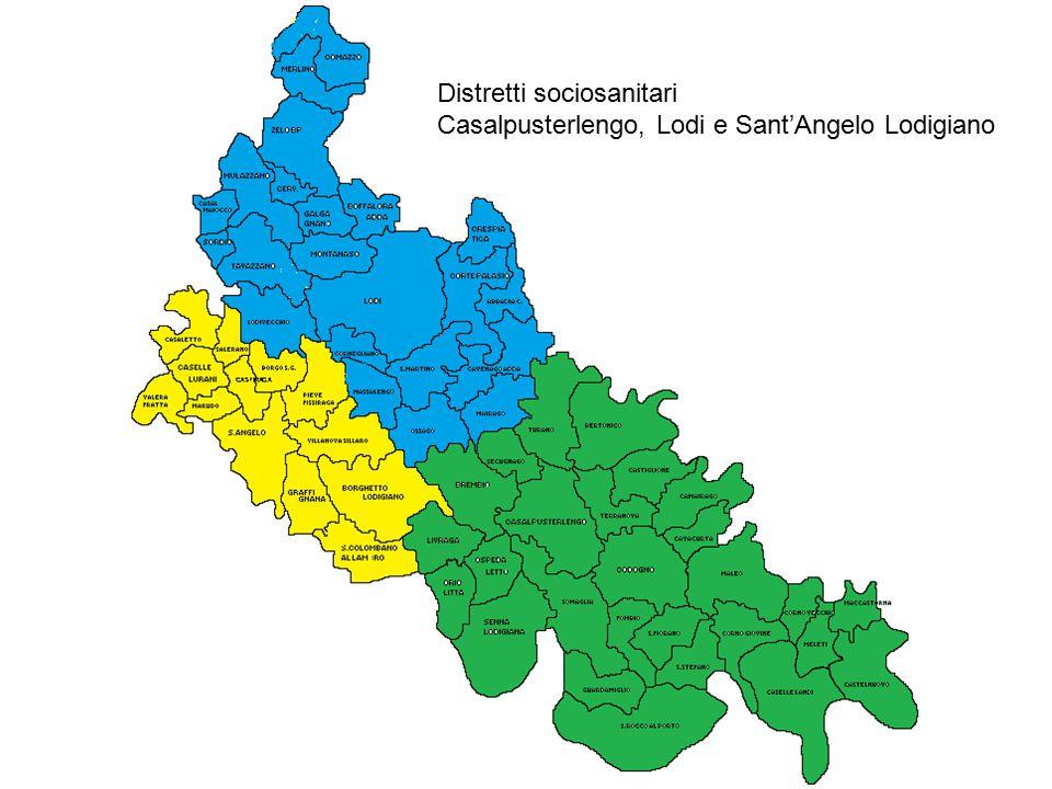 Distretti sociosanitari Casalpusterlengo, Lodi e Sant'Angelo Lodigiano