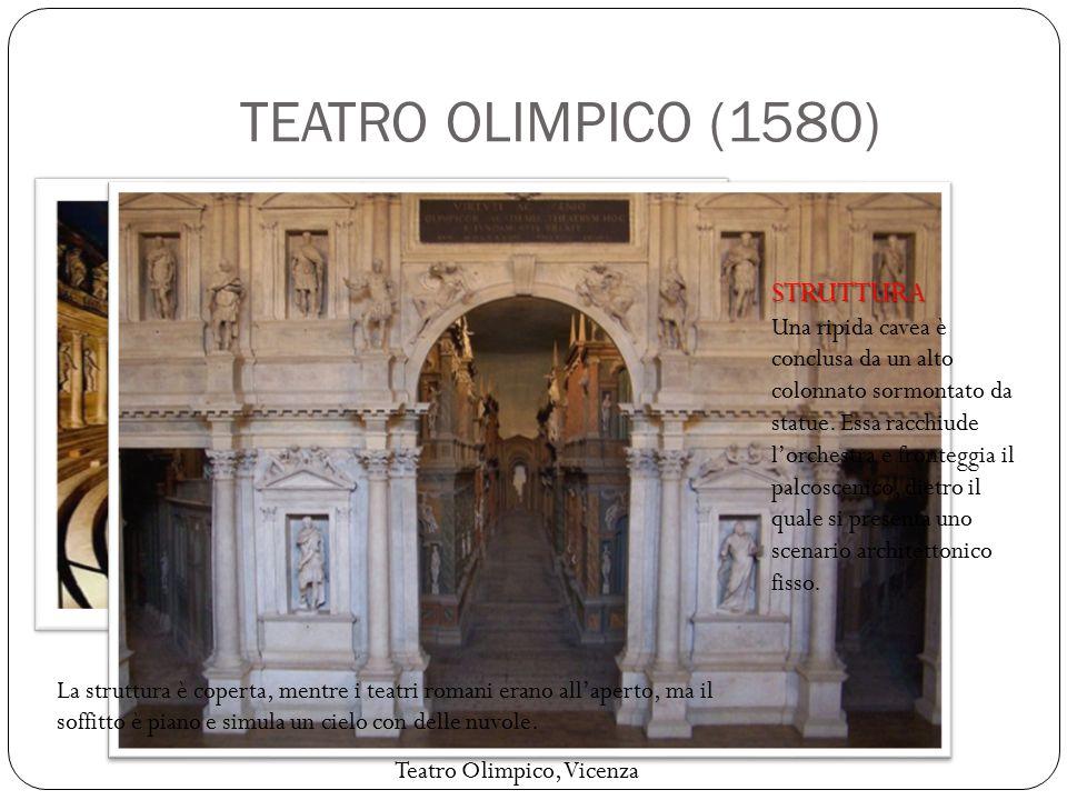 PIANTA DEL TEATRO La grande novità del teatro di Palladio consiste nella scena.