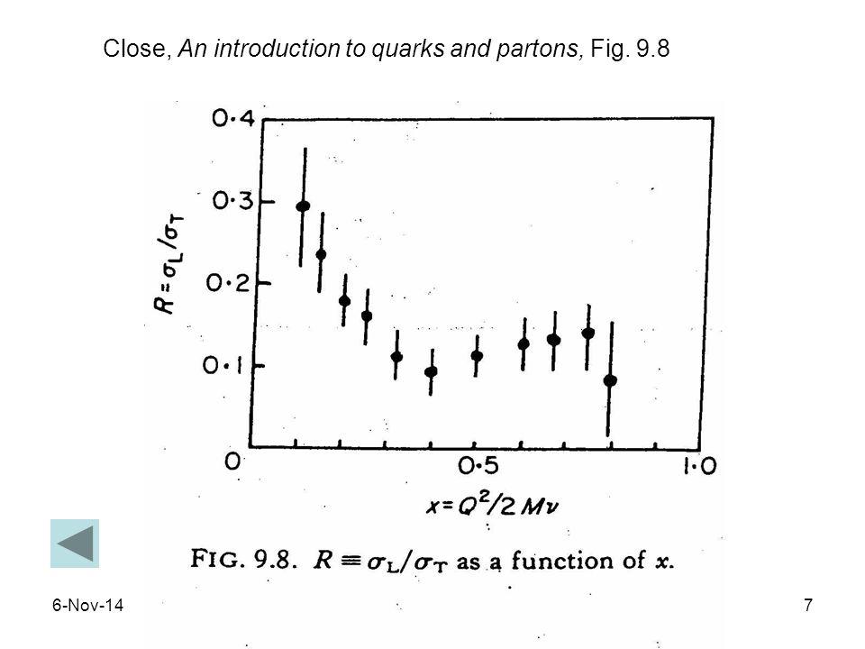 6-Nov-147 Close, An introduction to quarks and partons, Fig. 9.8
